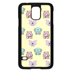 Animals Pastel Children Colorful Samsung Galaxy S5 Case (black)