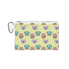 Animals Pastel Children Colorful Canvas Cosmetic Bag (s)