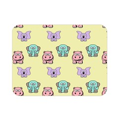 Animals Pastel Children Colorful Double Sided Flano Blanket (mini)