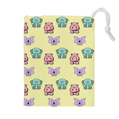 Animals Pastel Children Colorful Drawstring Pouches (extra Large)