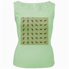 Ants Pattern Women s Green Tank Top