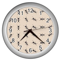 Ants Pattern Wall Clocks (silver)