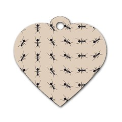 Ants Pattern Dog Tag Heart (one Side)