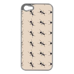 Ants Pattern Apple Iphone 5 Case (silver)