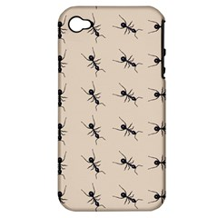 Ants Pattern Apple Iphone 4/4s Hardshell Case (pc+silicone)