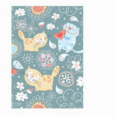 Cute Cat Background Pattern Large Garden Flag (two Sides)