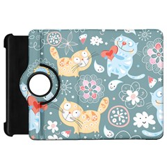 Cute Cat Background Pattern Kindle Fire Hd 7