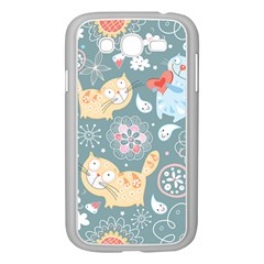 Cute Cat Background Pattern Samsung Galaxy Grand Duos I9082 Case (white)