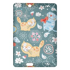 Cute Cat Background Pattern Amazon Kindle Fire Hd (2013) Hardshell Case
