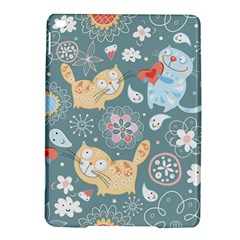 Cute Cat Background Pattern Ipad Air 2 Hardshell Cases