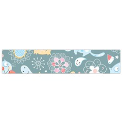 Cute Cat Background Pattern Flano Scarf (small)