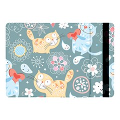 Cute Cat Background Pattern Apple Ipad Pro 10 5   Flip Case