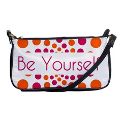 Be Yourself Pink Orange Dots Circular Shoulder Clutch Bags