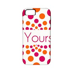 Be Yourself Pink Orange Dots Circular Apple Iphone 5 Classic Hardshell Case (pc+silicone)