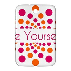 Be Yourself Pink Orange Dots Circular Samsung Galaxy Note 8 0 N5100 Hardshell Case