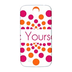 Be Yourself Pink Orange Dots Circular Samsung Galaxy S4 I9500/i9505  Hardshell Back Case