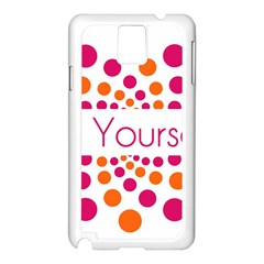 Be Yourself Pink Orange Dots Circular Samsung Galaxy Note 3 N9005 Case (white)