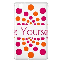 Be Yourself Pink Orange Dots Circular Samsung Galaxy Tab Pro 8 4 Hardshell Case