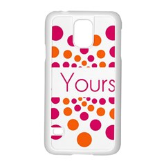 Be Yourself Pink Orange Dots Circular Samsung Galaxy S5 Case (white)