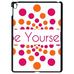 Be Yourself Pink Orange Dots Circular Apple Ipad Pro 9 7   Black Seamless Case