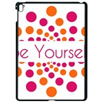 Be Yourself Pink Orange Dots Circular Apple iPad Pro 9.7   Black Seamless Case Front