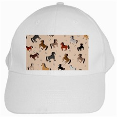 Horses For Courses Pattern White Cap