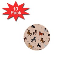 Horses For Courses Pattern 1  Mini Buttons (10 Pack)