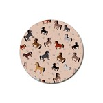 Horses For Courses Pattern Rubber Coaster (Round)  Front