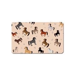 Horses For Courses Pattern Magnet (name Card)