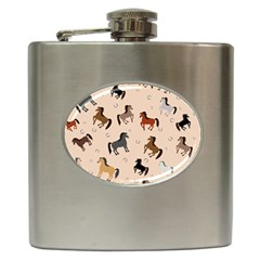 Horses For Courses Pattern Hip Flask (6 Oz)