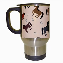 Horses For Courses Pattern Travel Mugs (white)