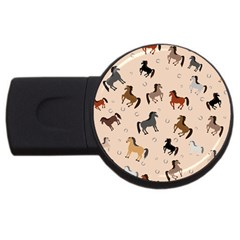 Horses For Courses Pattern Usb Flash Drive Round (4 Gb)