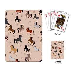 Horses For Courses Pattern Playing Card