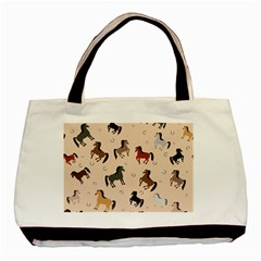 Horses For Courses Pattern Basic Tote Bag