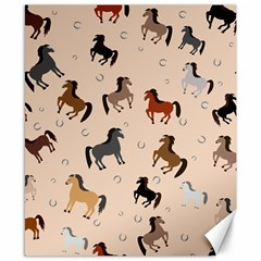 Horses For Courses Pattern Canvas 8  X 10