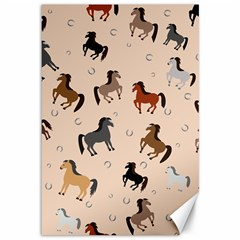 Horses For Courses Pattern Canvas 12  X 18