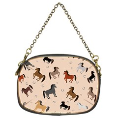 Horses For Courses Pattern Chain Purses (two Sides)