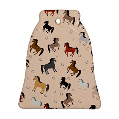 Horses For Courses Pattern Bell Ornament (two Sides)