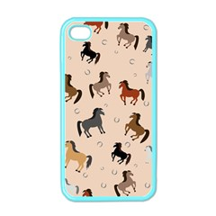 Horses For Courses Pattern Apple Iphone 4 Case (color)