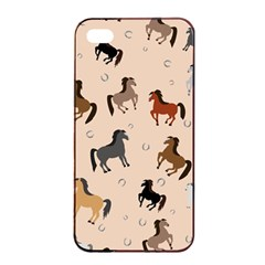 Horses For Courses Pattern Apple Iphone 4/4s Seamless Case (black)