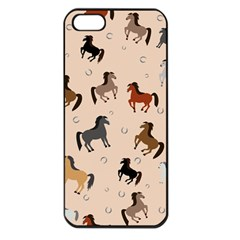 Horses For Courses Pattern Apple Iphone 5 Seamless Case (black)