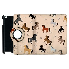 Horses For Courses Pattern Apple Ipad 3/4 Flip 360 Case