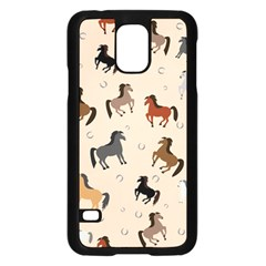 Horses For Courses Pattern Samsung Galaxy S5 Case (black)