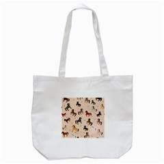 Horses For Courses Pattern Tote Bag (white)