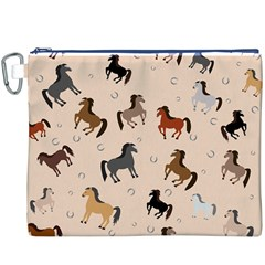 Horses For Courses Pattern Canvas Cosmetic Bag (xxxl)