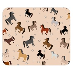Horses For Courses Pattern Double Sided Flano Blanket (small)
