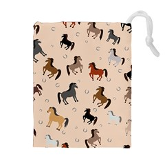 Horses For Courses Pattern Drawstring Pouches (extra Large)