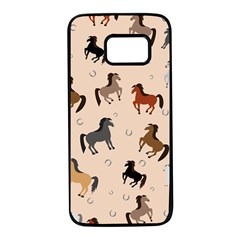 Horses For Courses Pattern Samsung Galaxy S7 Black Seamless Case