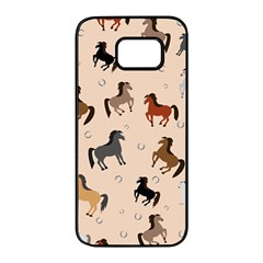 Horses For Courses Pattern Samsung Galaxy S7 Edge Black Seamless Case