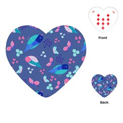 Birds And Butterflies Playing Cards (heart)